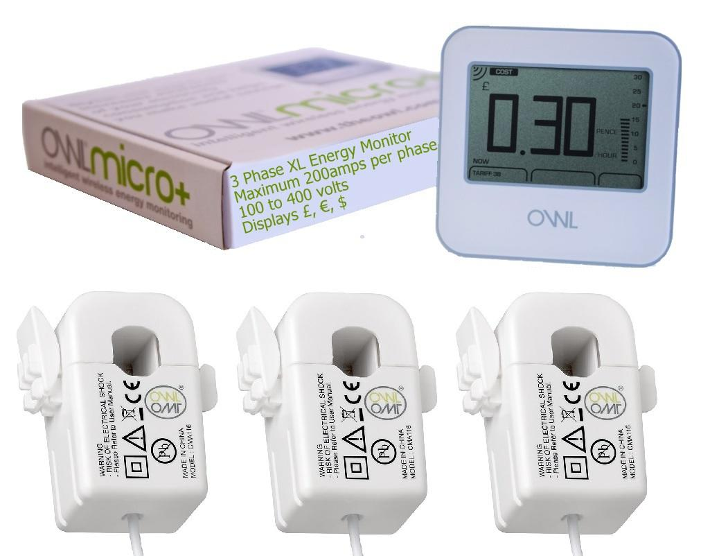 OWL Micro+ CM180 Three Phase Pack Wireless Home Energy Monitor