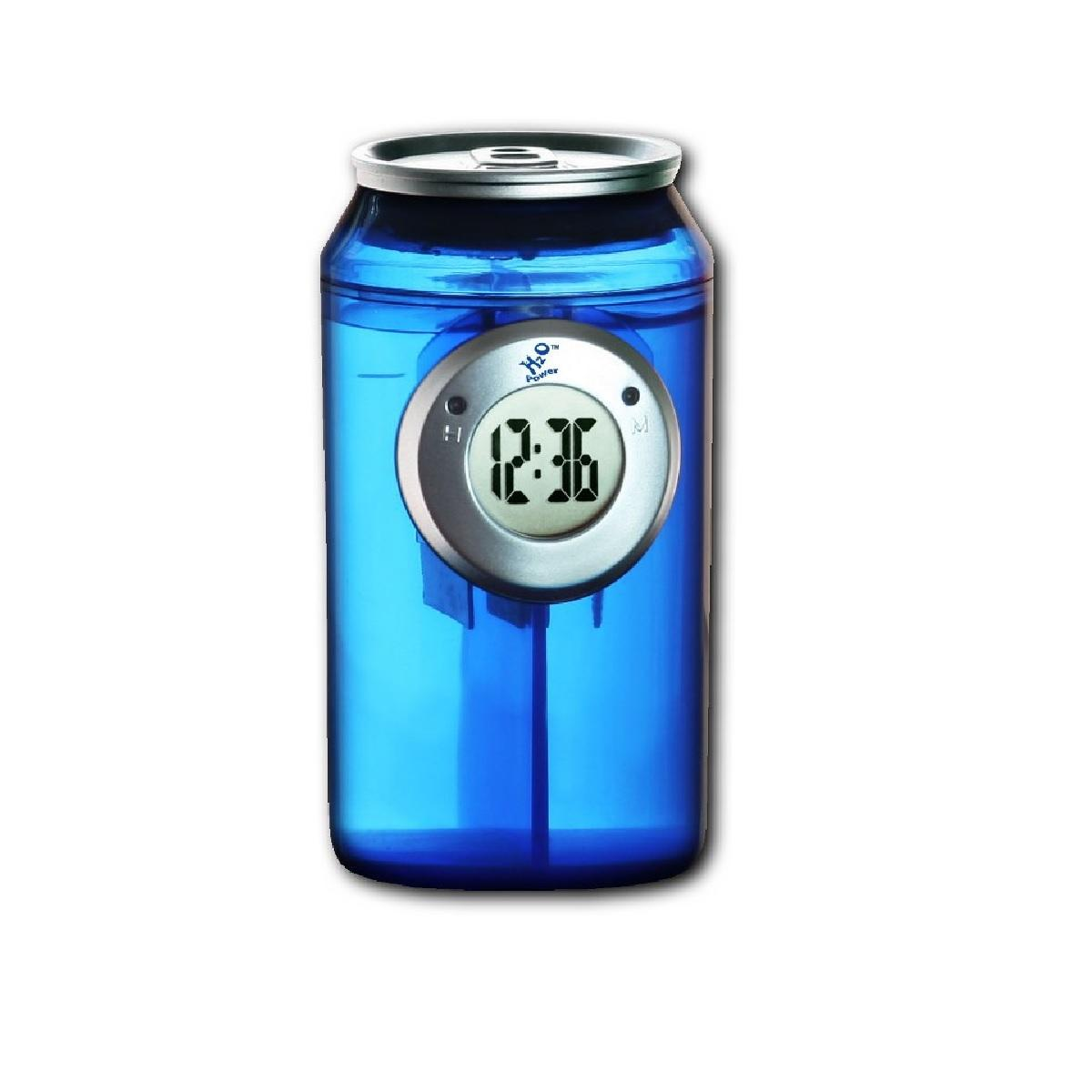 Picture of the H2o Blue can clock