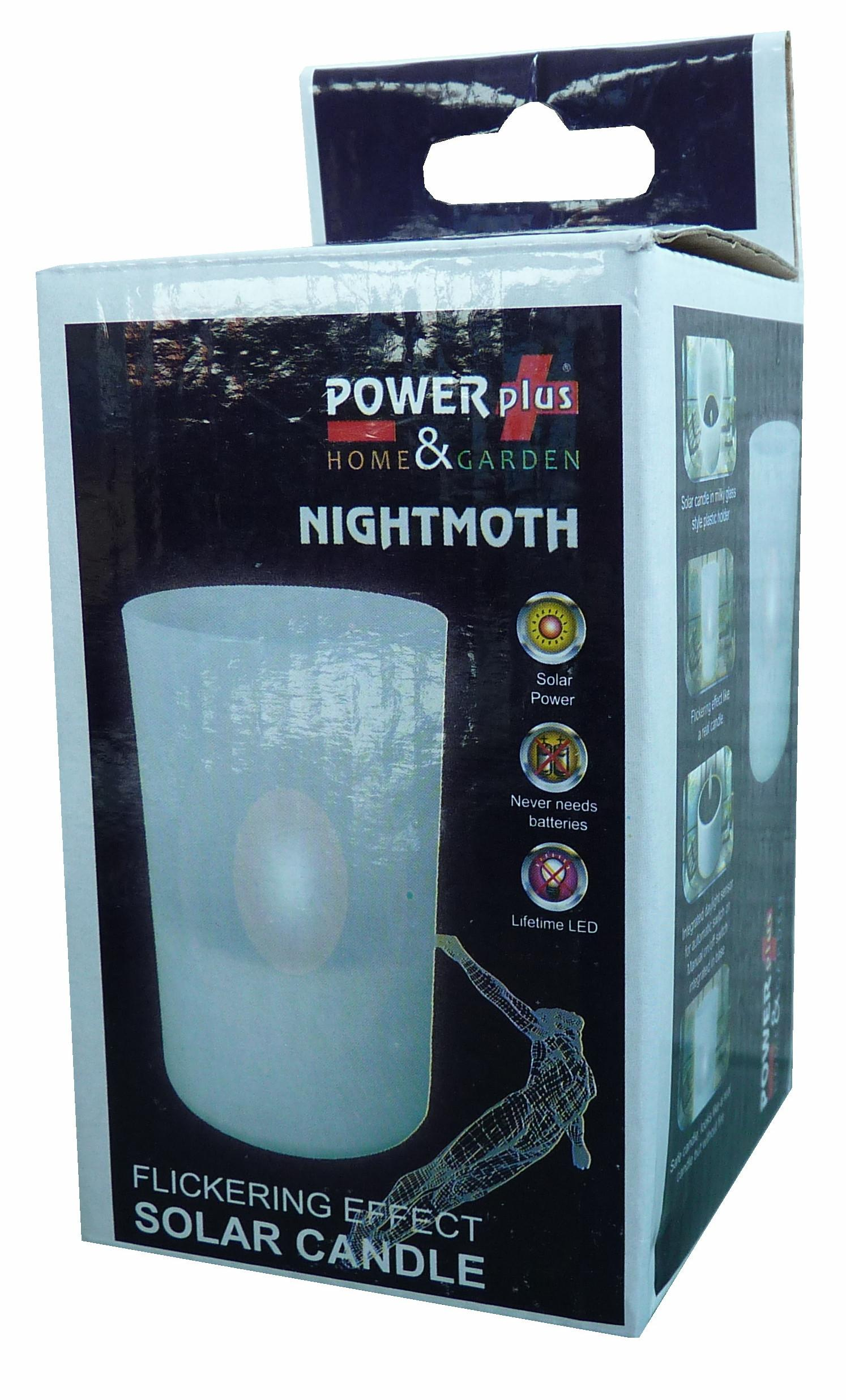 POWERplus Nightmoth Flickering Effect Solar Candle