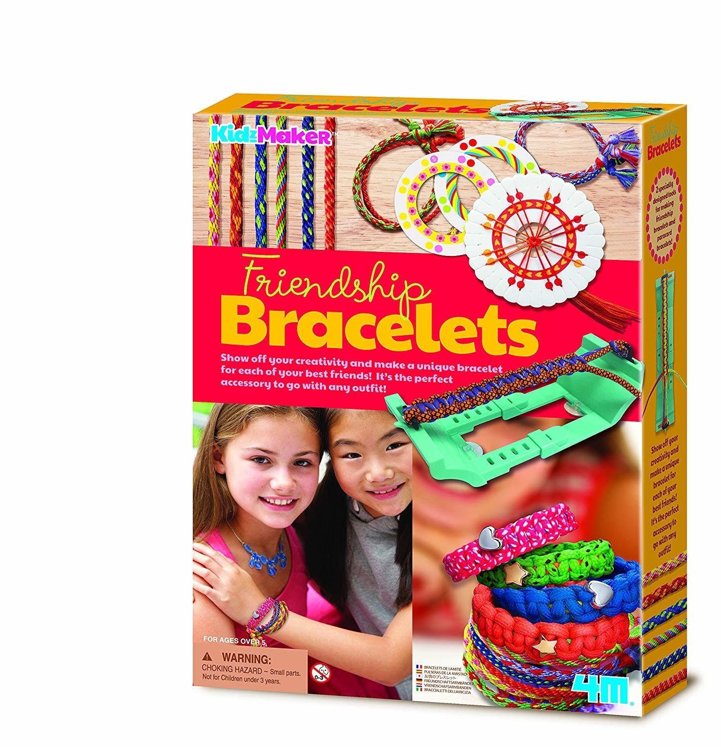 4M Kidz Maker Friendship Bracelets Craft Kit