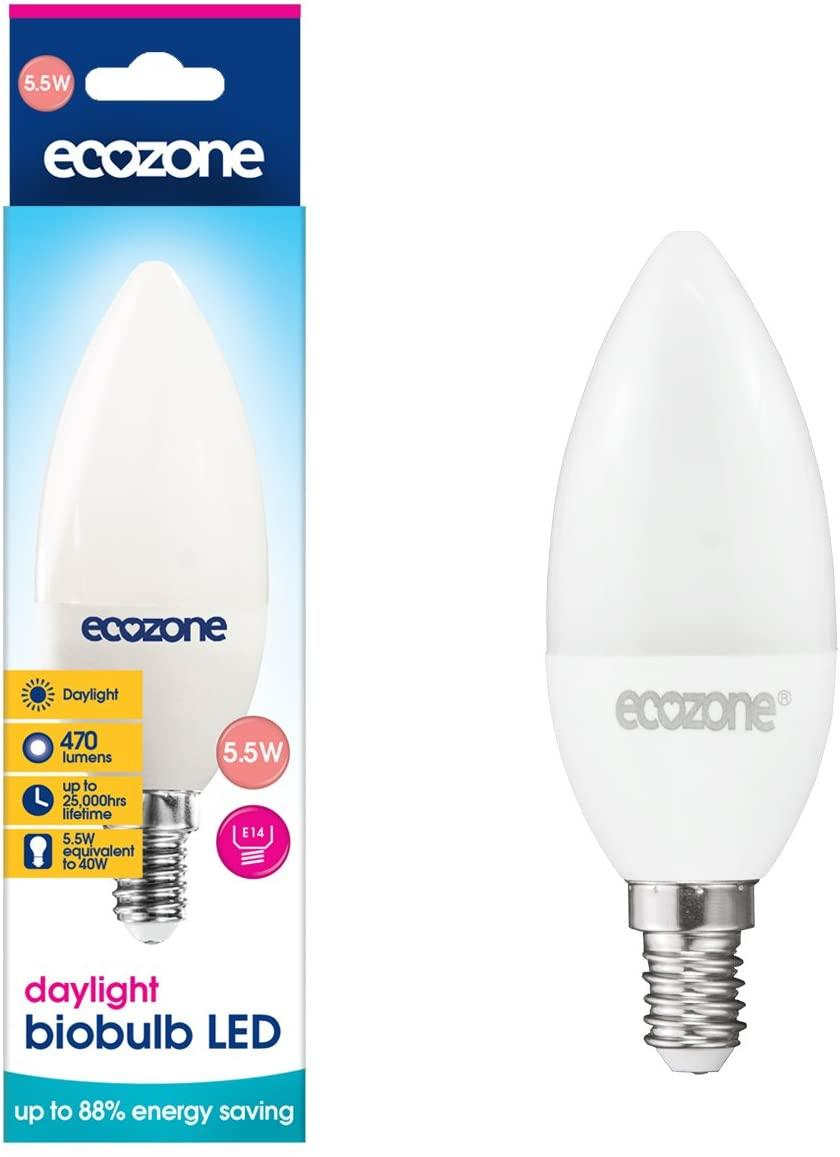 EcoZone LED Candle Bio Bulb E14 Fitting Daylight 5.5W