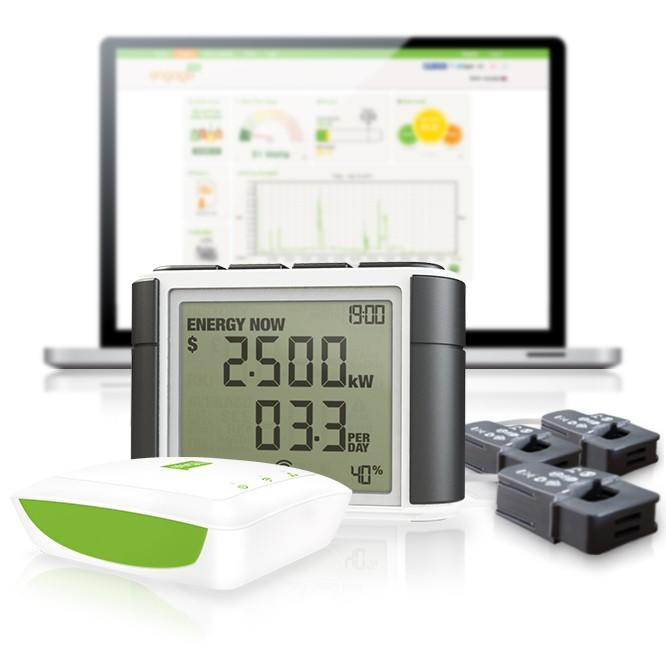 Efergy Engage 3 phase electricity monitor with the Efergy Elite display