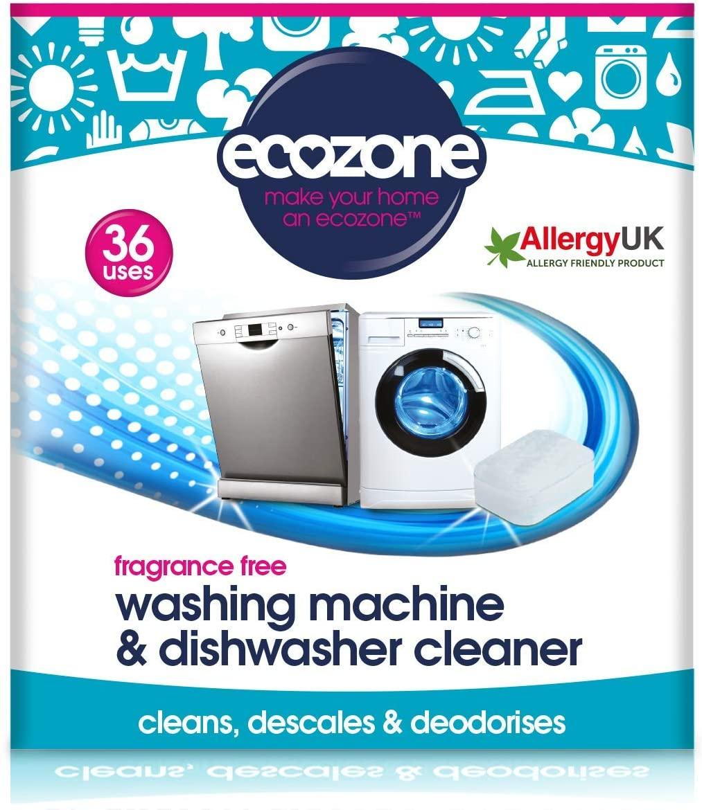 EcoZone Washing Machine & Dishwasher Cleaner (36) Fragrance Free