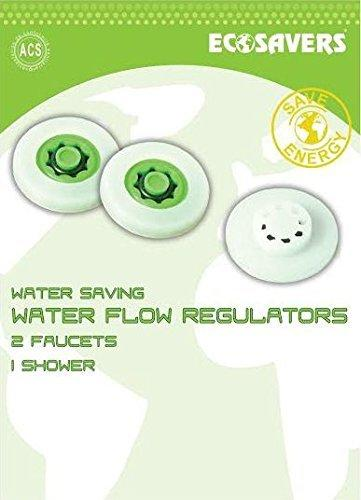 EcoSavers Water Flow Regulators (Pack of 2 for faucets & 1 for shower heads)