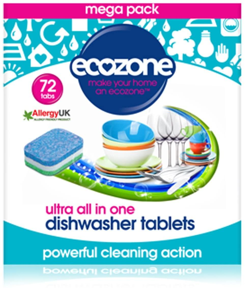 EcoZone Ultra All in One Dishwasher Tablets (72)