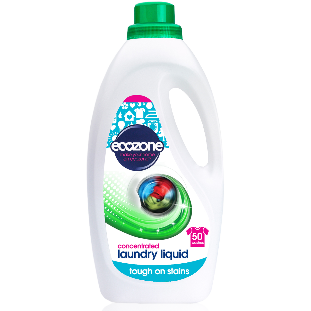 EcoZone Concentrated Laundry Bio Liquid 2 Ltr (50 Washes)