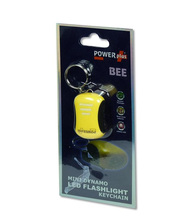 POWERplus Bee - Mini Dynamo LED Torch & Keychain