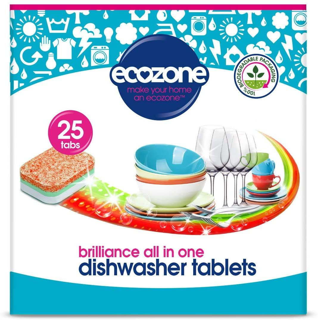 EcoZone Brilliance All in One Dishwasher Tablets (25)