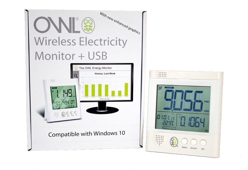 OWL +USB CM160 Two Phase Electricity Monitor (2 x 71 amp 9mm CT Sensors)
