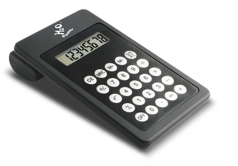 H2O Water Powered 8-Digit Calculator