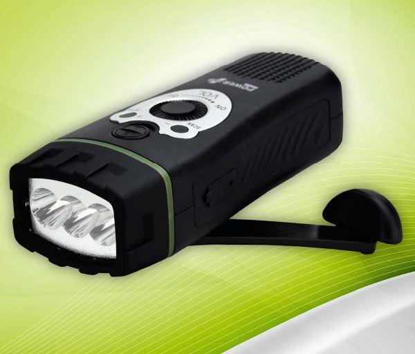 POWERplus Wolf Wind-Up radio and flashlight