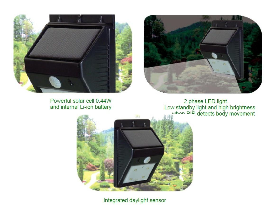 POWERplus Cat Solar Powered PIR Sensor LED Outdoor Light