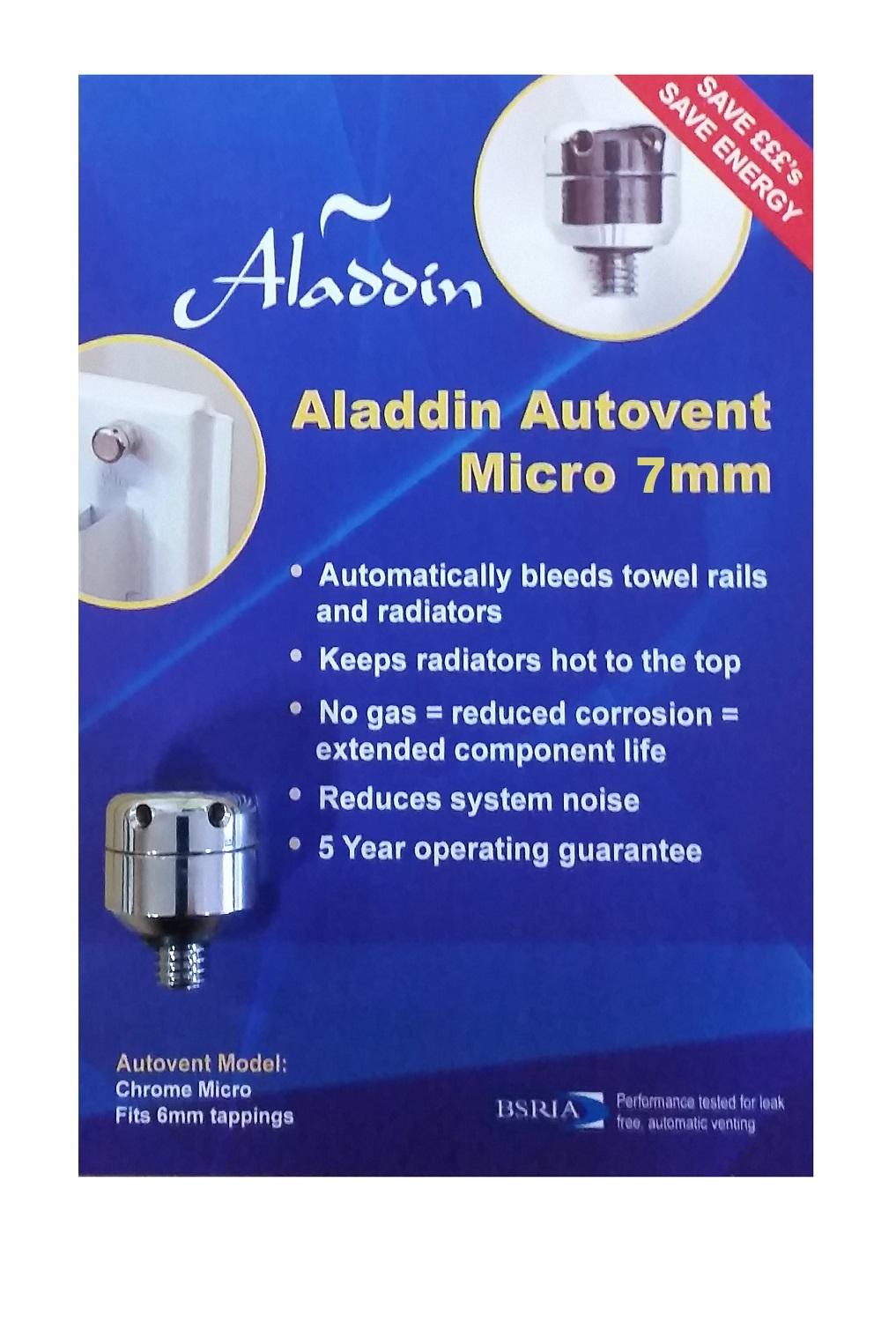 Aladdin Autovent Micro 7mm Radiator Bleeding Valve