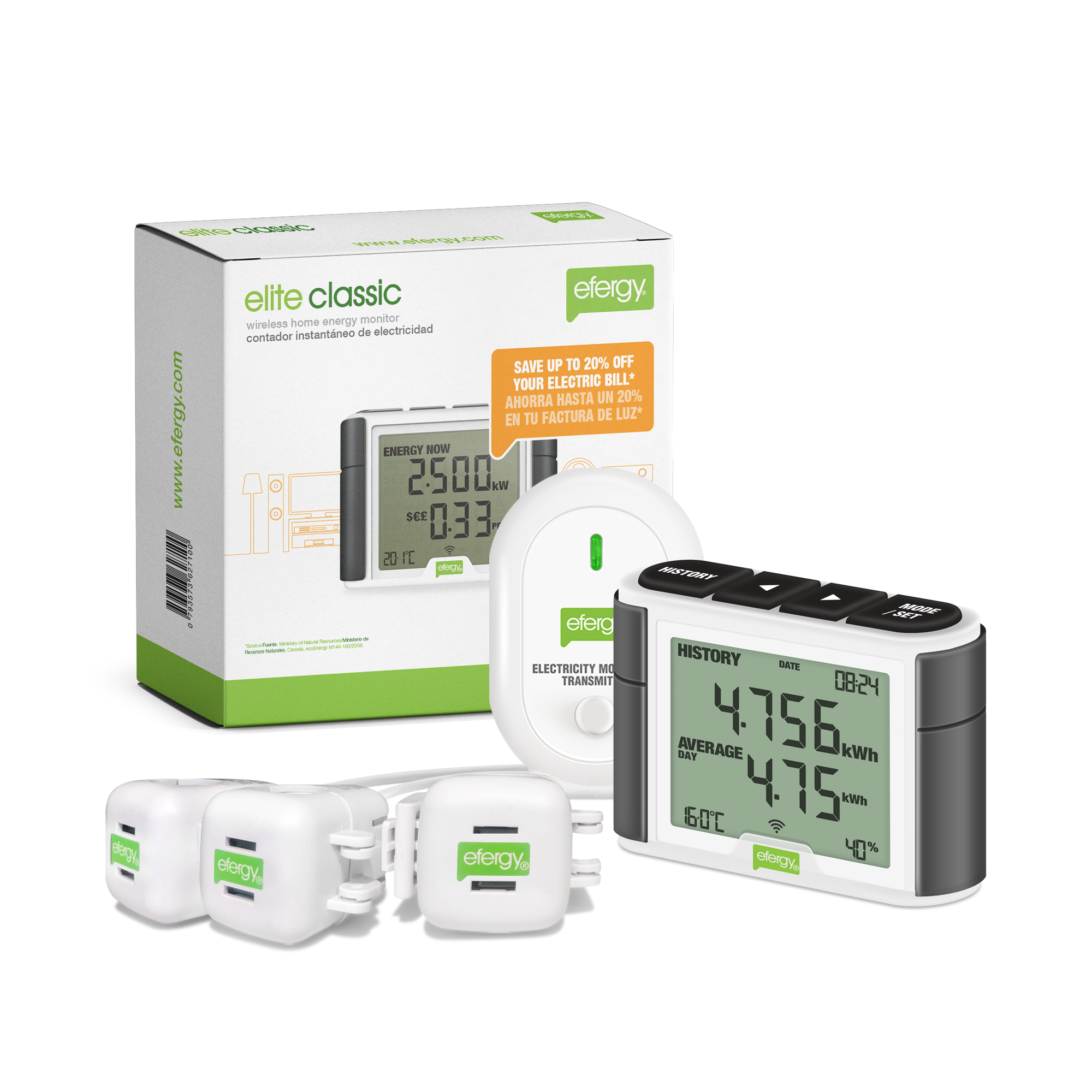 Efergy Elite XL Three Phase Wireless Energy Monitor