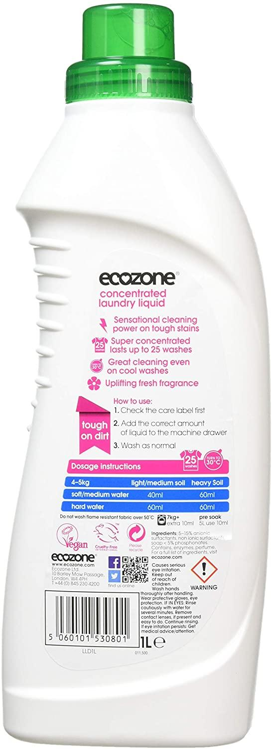 EcoZone Concentrated Bio Laundry Liquid 1 Ltr (25 Washes)