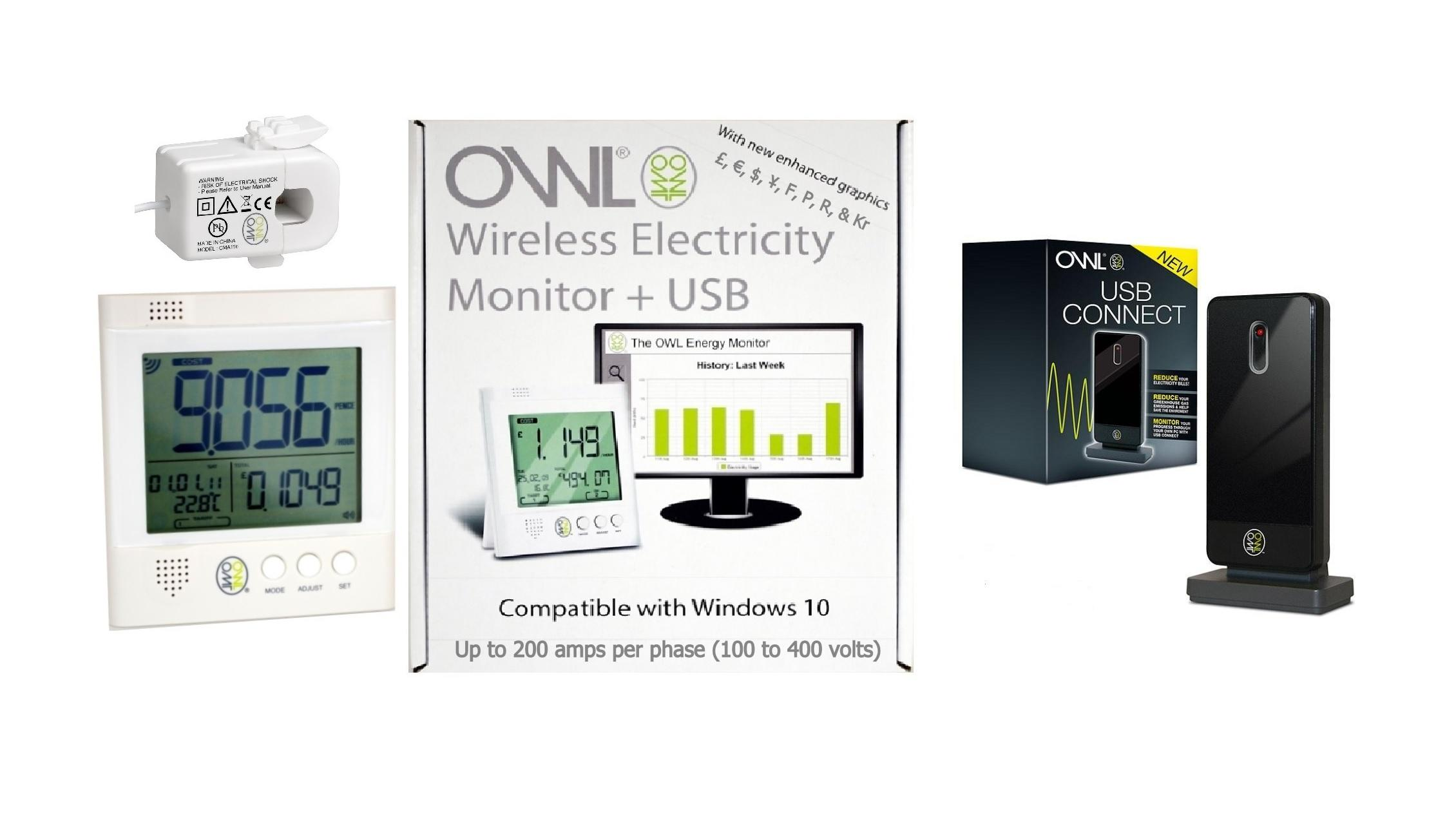 OWL +USB CM160 Wireless Energy Monitor / CM120 USB Connect Pack