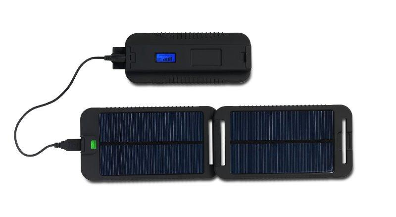 Powermonkey Extreme 5V and 12V Solar Portable Charger - Black