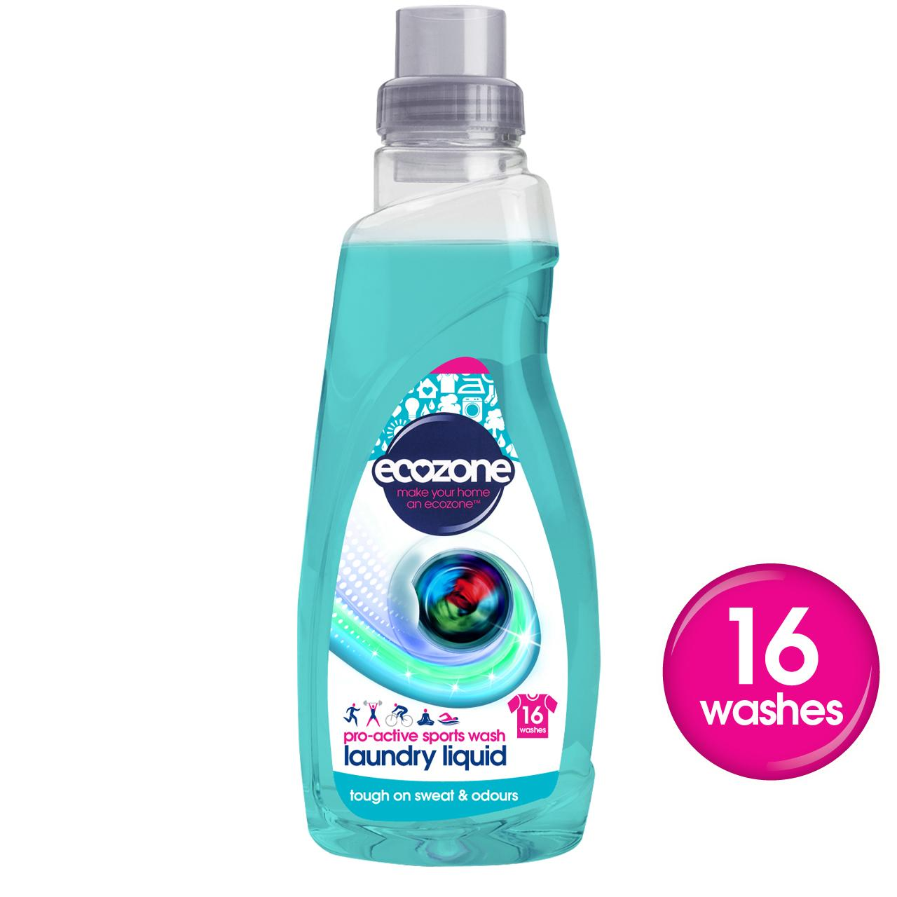 Ecozone Pro-Active Sports Wash Laundry Liquid 750ml