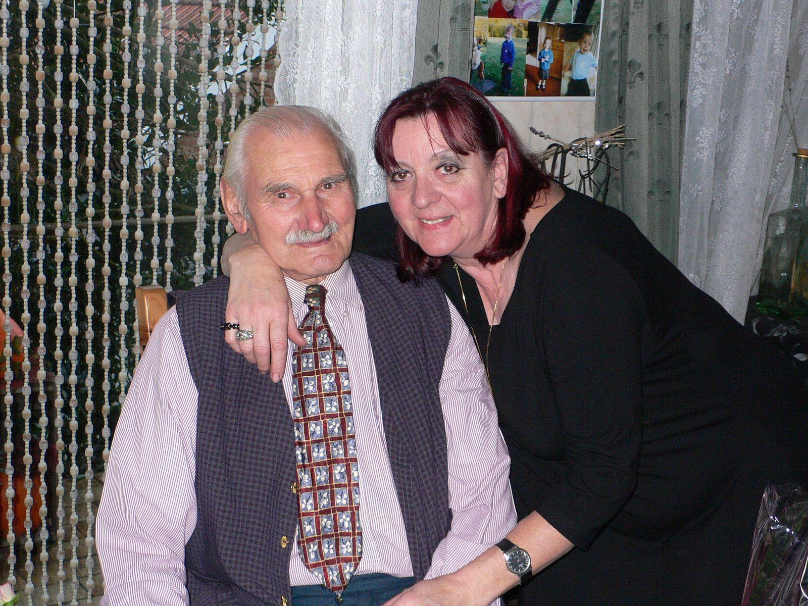 Granddad with my mum, his daughter Christiane.
