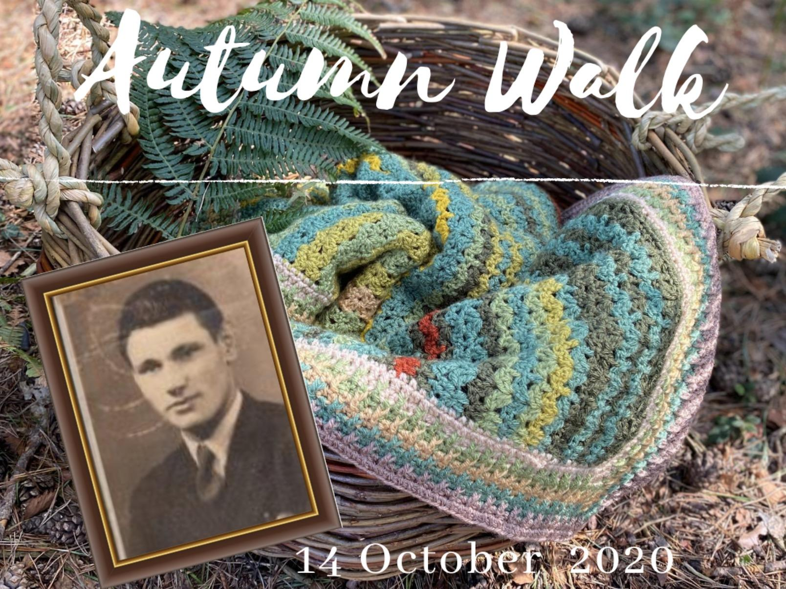 Autumn Walk Blanket in Basket