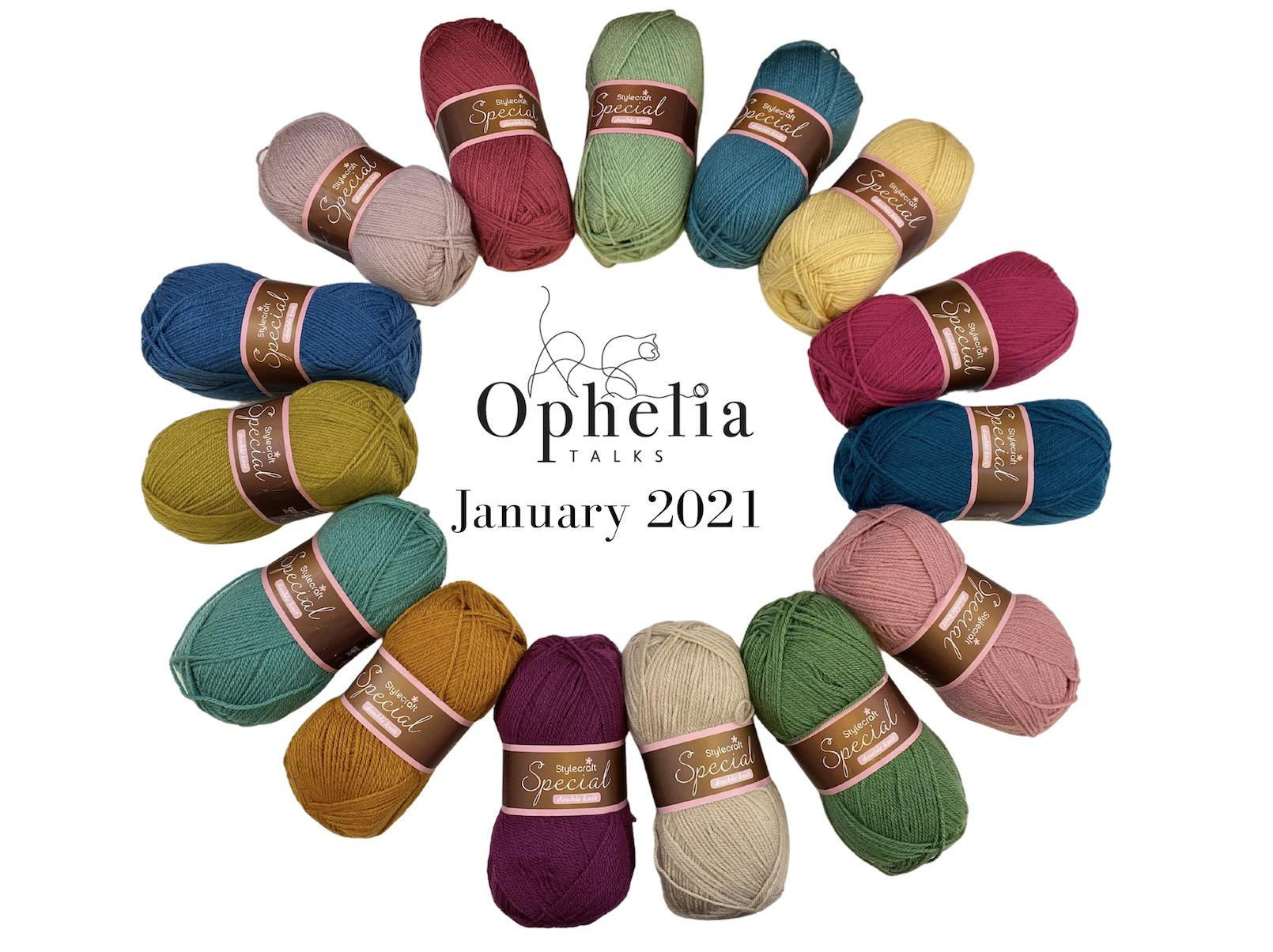 STYLECRAFT SPECIAL DK LIMITED EDITION COLOUR PACK JANUARY 2021
