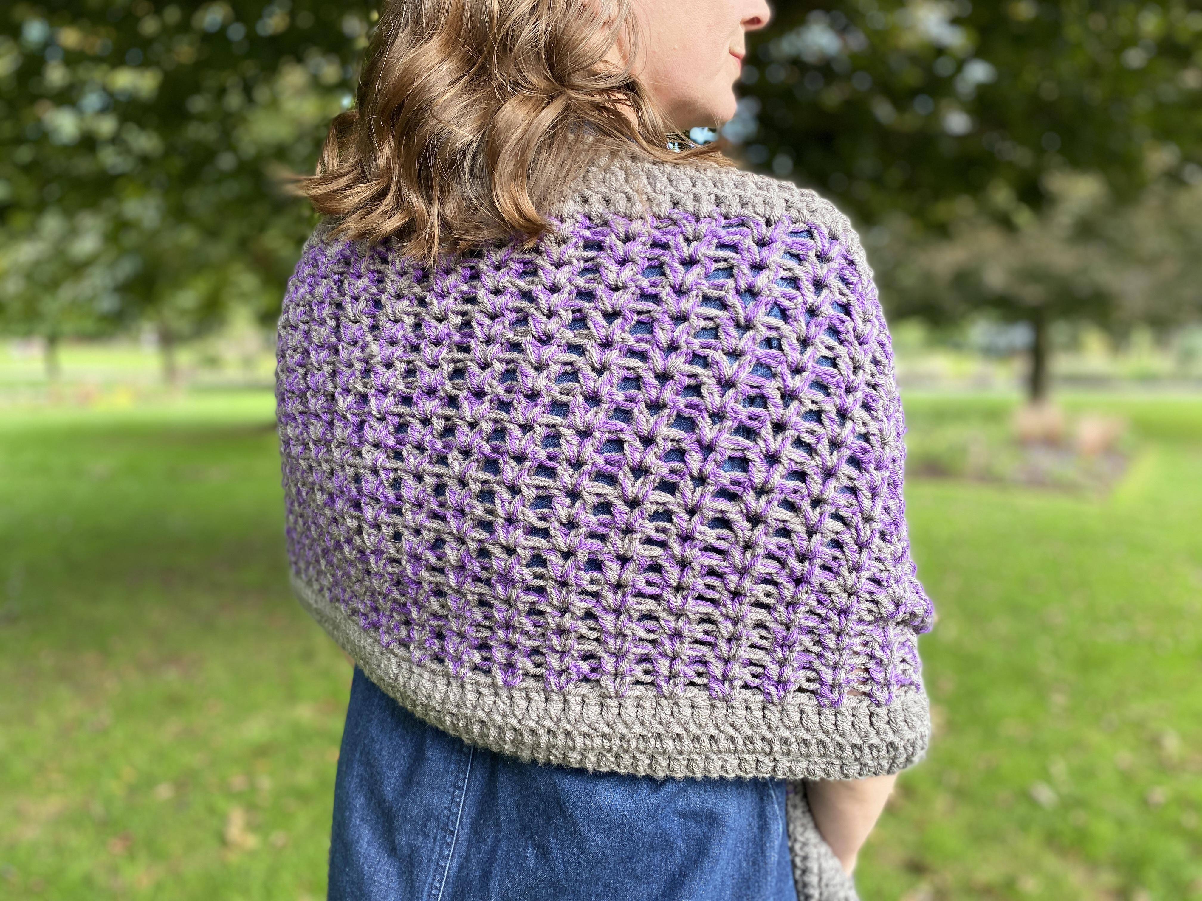 shawl with pockets crochet pattern