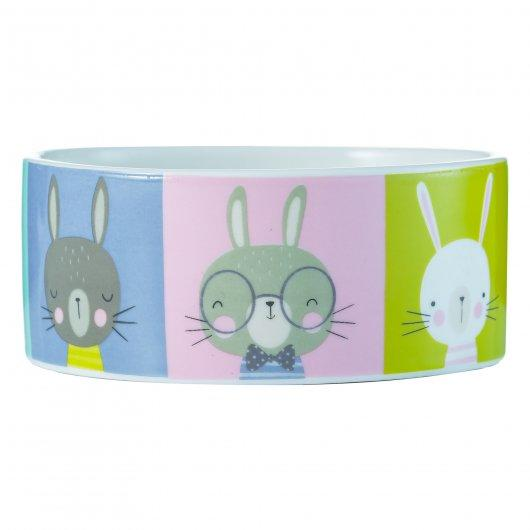 Mason Cash Rabbit Bowl With Rabbit Portraits
