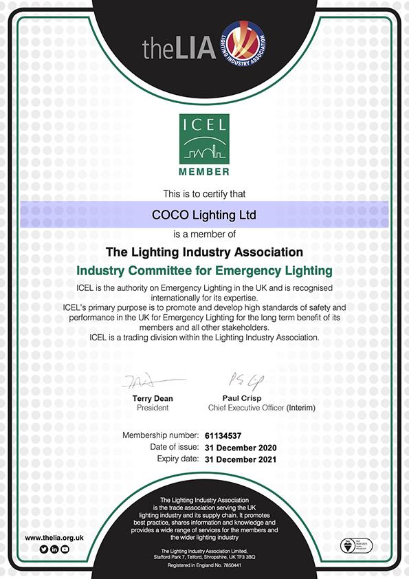 ICEL approved conversions for emergency lighting