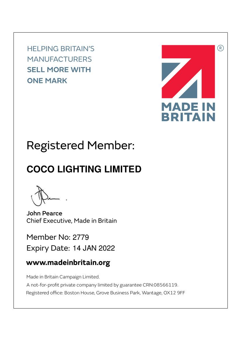 Made in Great Britain Lighting