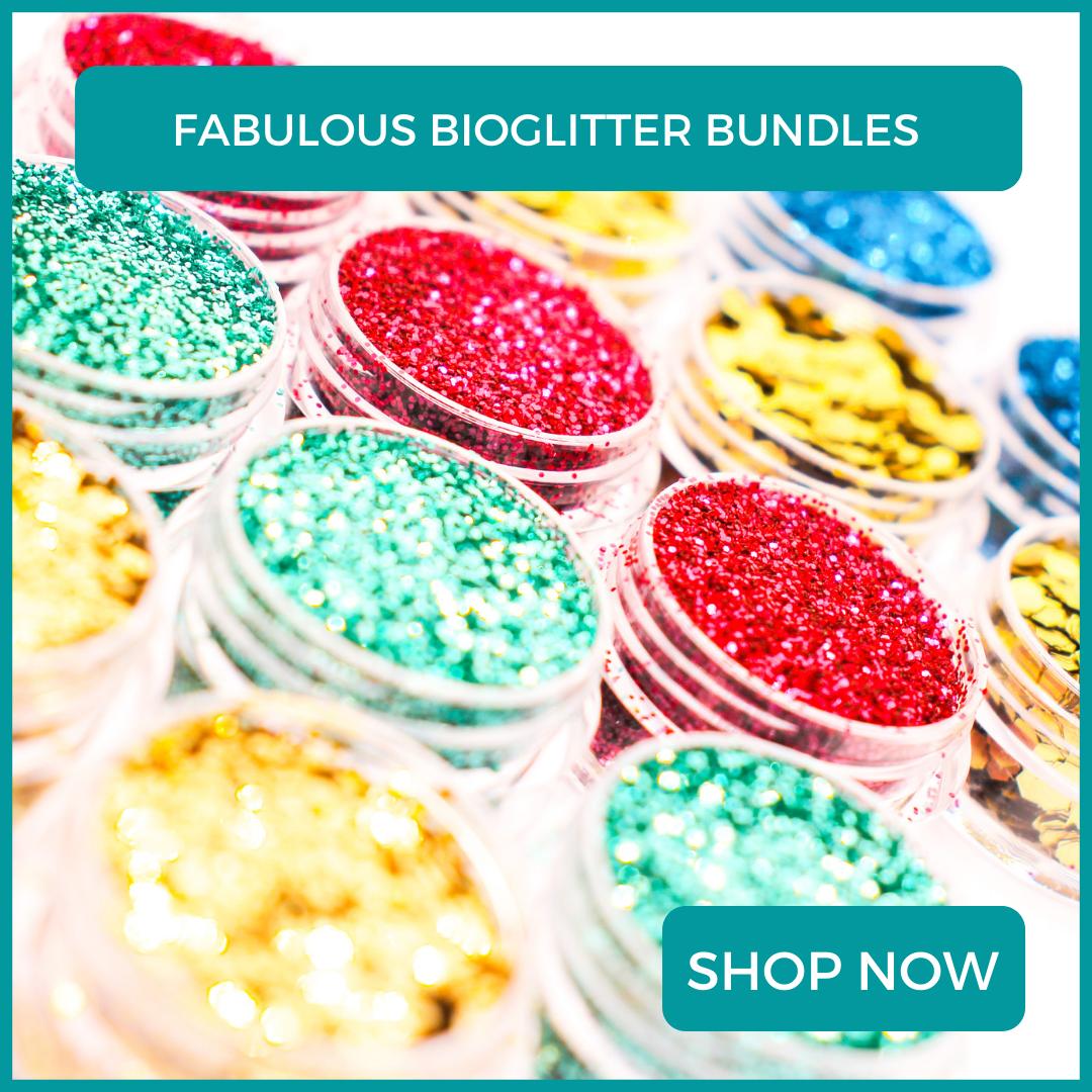 Biodegradable glitter bundles