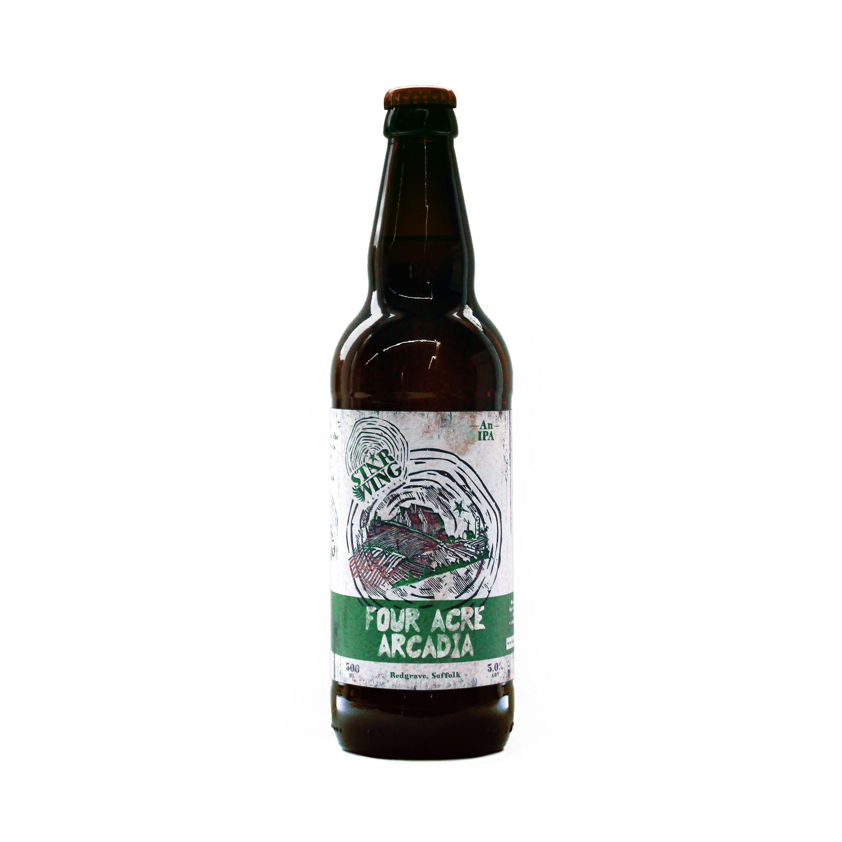A 500ml bottle of delicious Star Wing Brewery's Four Acre Arcadia, 5.0% IPA