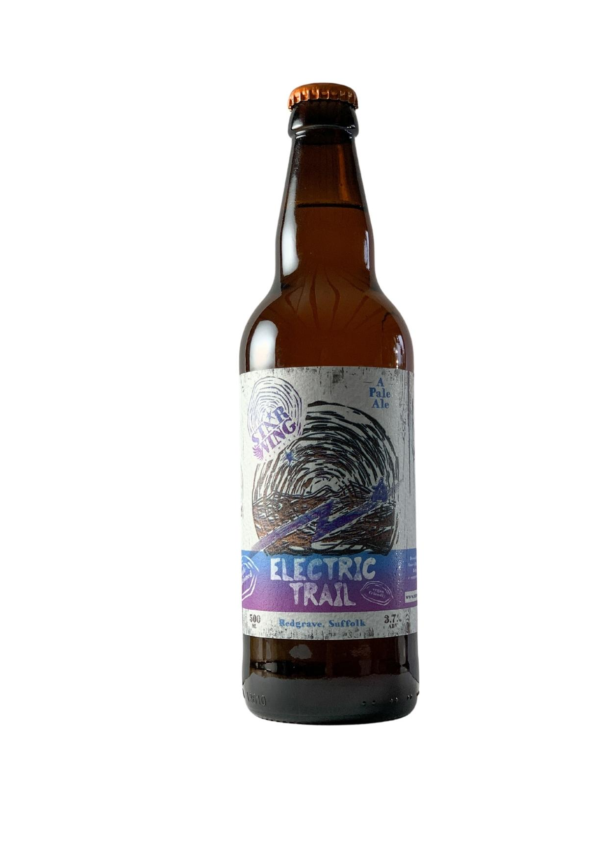 A 500ml bottle of delicious Star Wing Brewery's Electric Trail, 3.7% Pale Ale