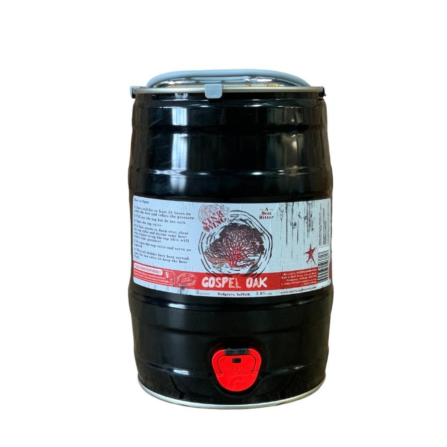 A 5L mini keg containing a mix of delicious Star Wing Brewery's Gospel Oak, 3.8% Best Bitter