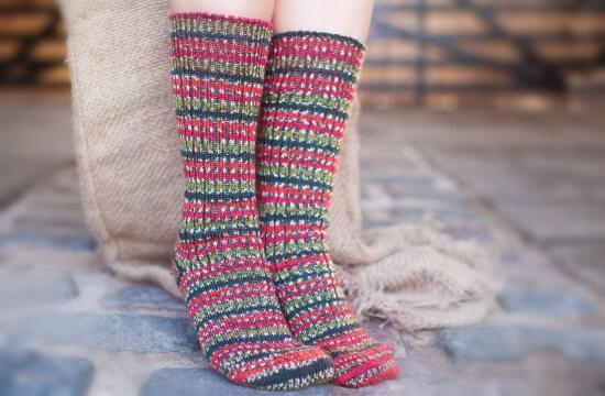 Stripe-socks-live-on-stone-floor