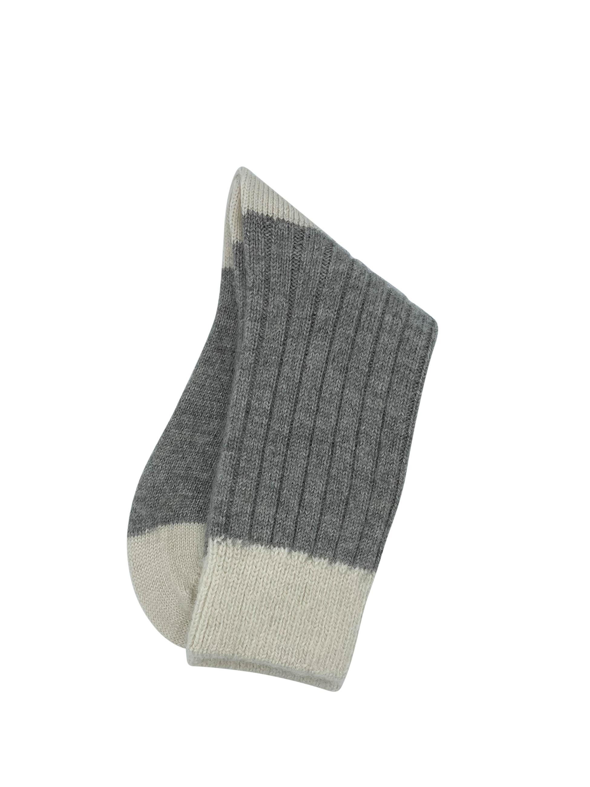 Grey-Parchment-House-bed-Socks-Alpaca