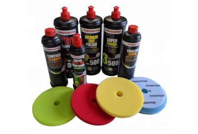 Machine polishing compounds and polishing pads