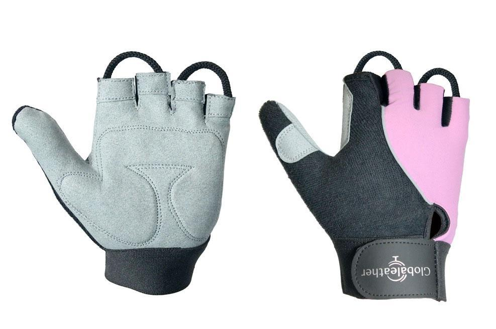 Globaleather Lite Gel Palm Wheelchair Gloves Pink