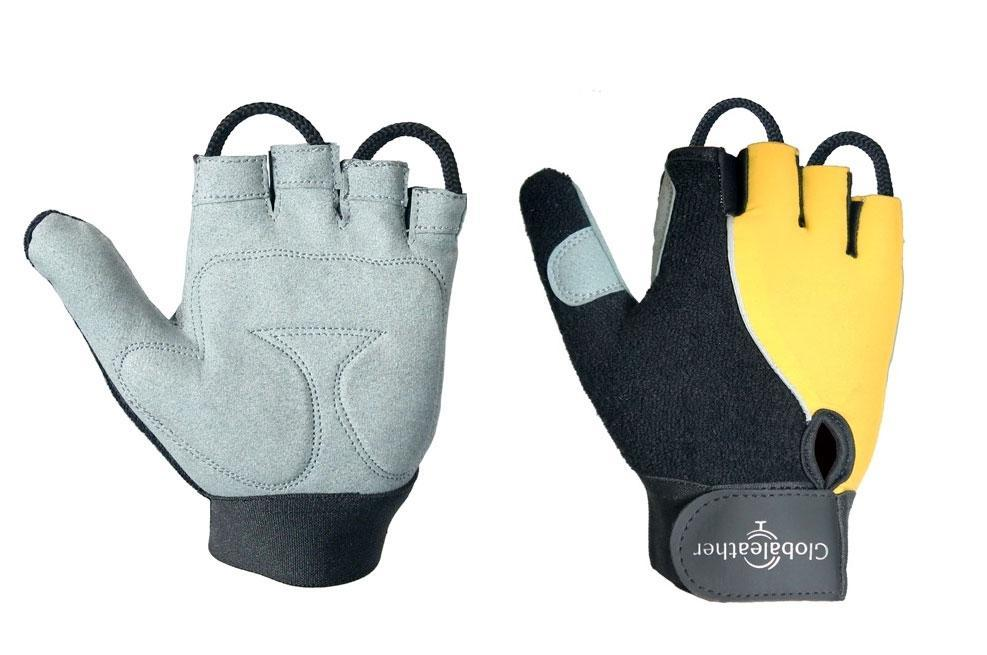 Globaleather Lite Gel Palm Wheelchair Gloves Yellow