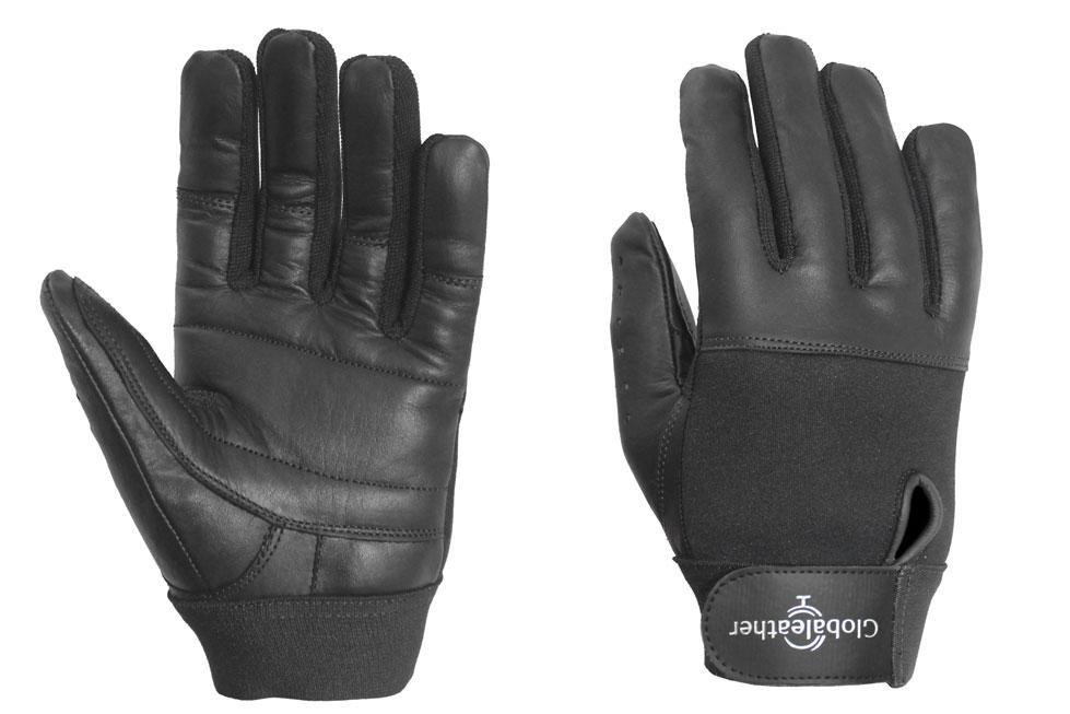 Classic Full Finger Wheelchair Gloves Black Main