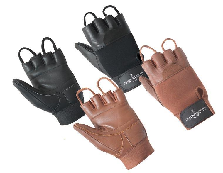 Classic Fingerless Leather Wheelchair Gloves Main