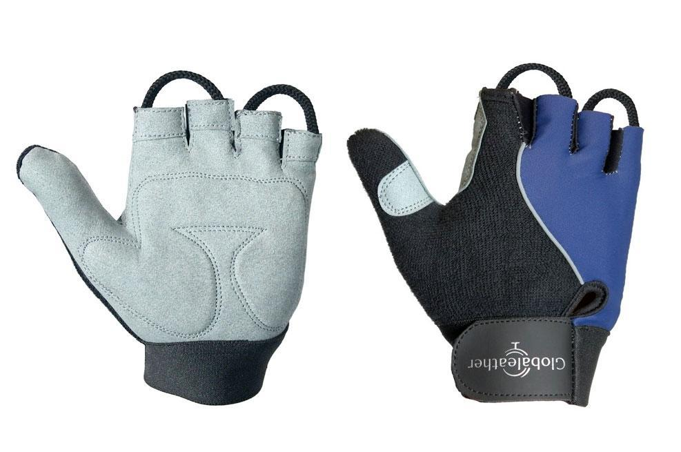 Globaleather Lite Gel Palm Wheelchair Gloves Navy
