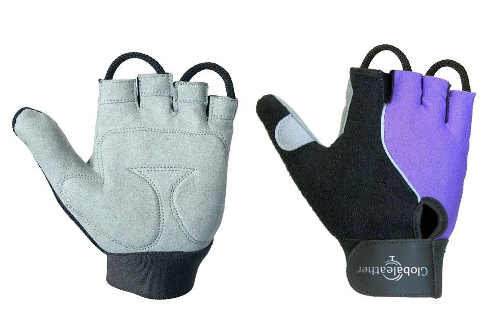 Globaleather Lite Gel Palm Wheelchair Gloves Purple