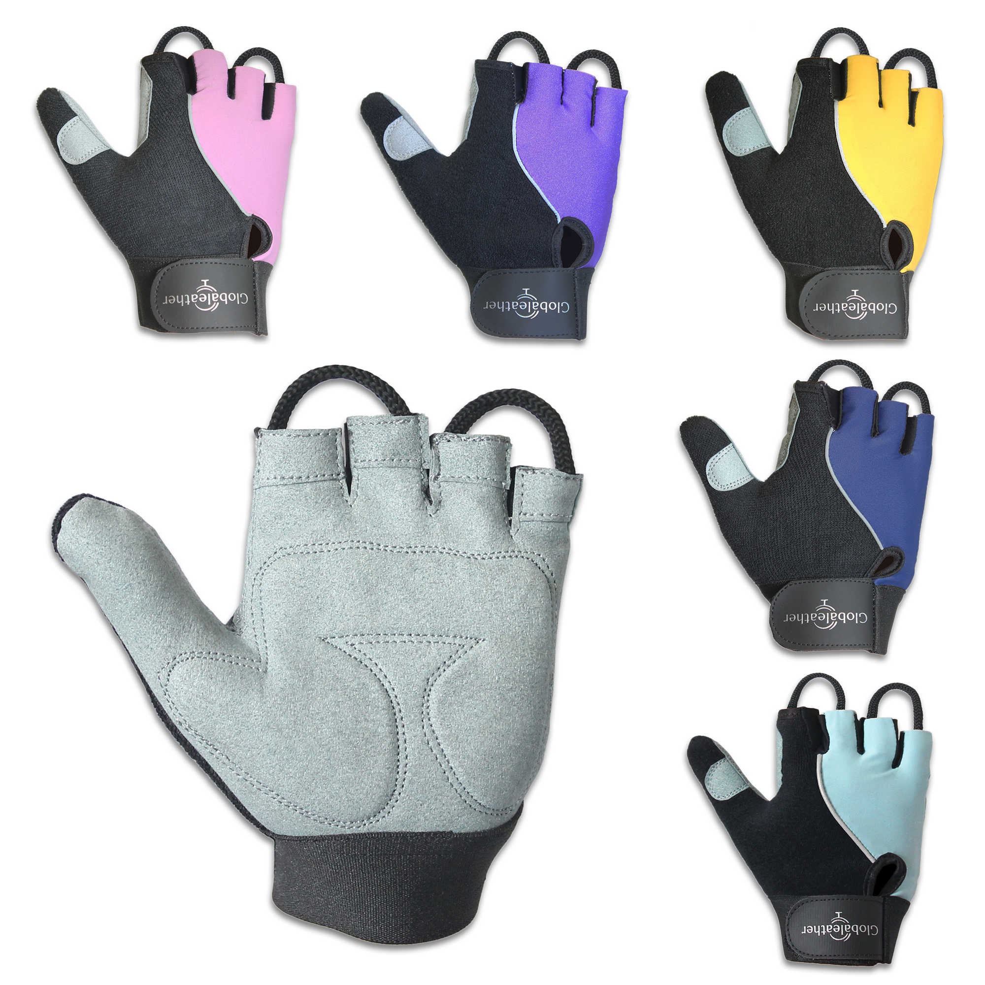 Globaleather Lite Gel Palm Wheelchair Gloves All Colours