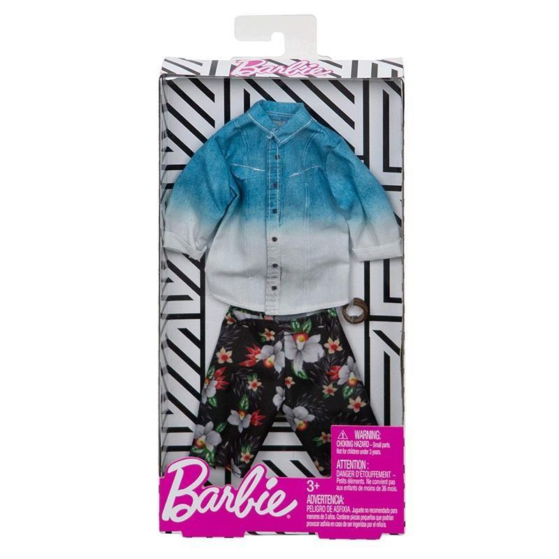 Barbie Ken Denim Ombre Shirt Fashion Accessory Set2