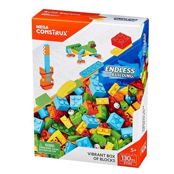 Mega Construx  130 Piece Vibrant Colour Box1