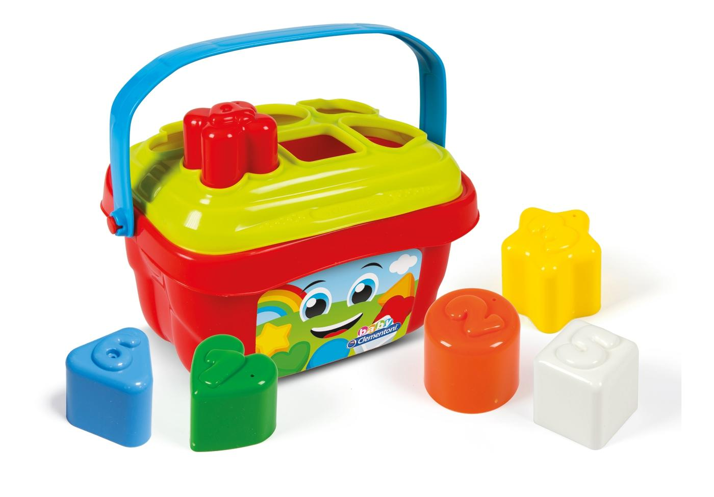 Baby Clementoni Shapes Sorter Bucket1