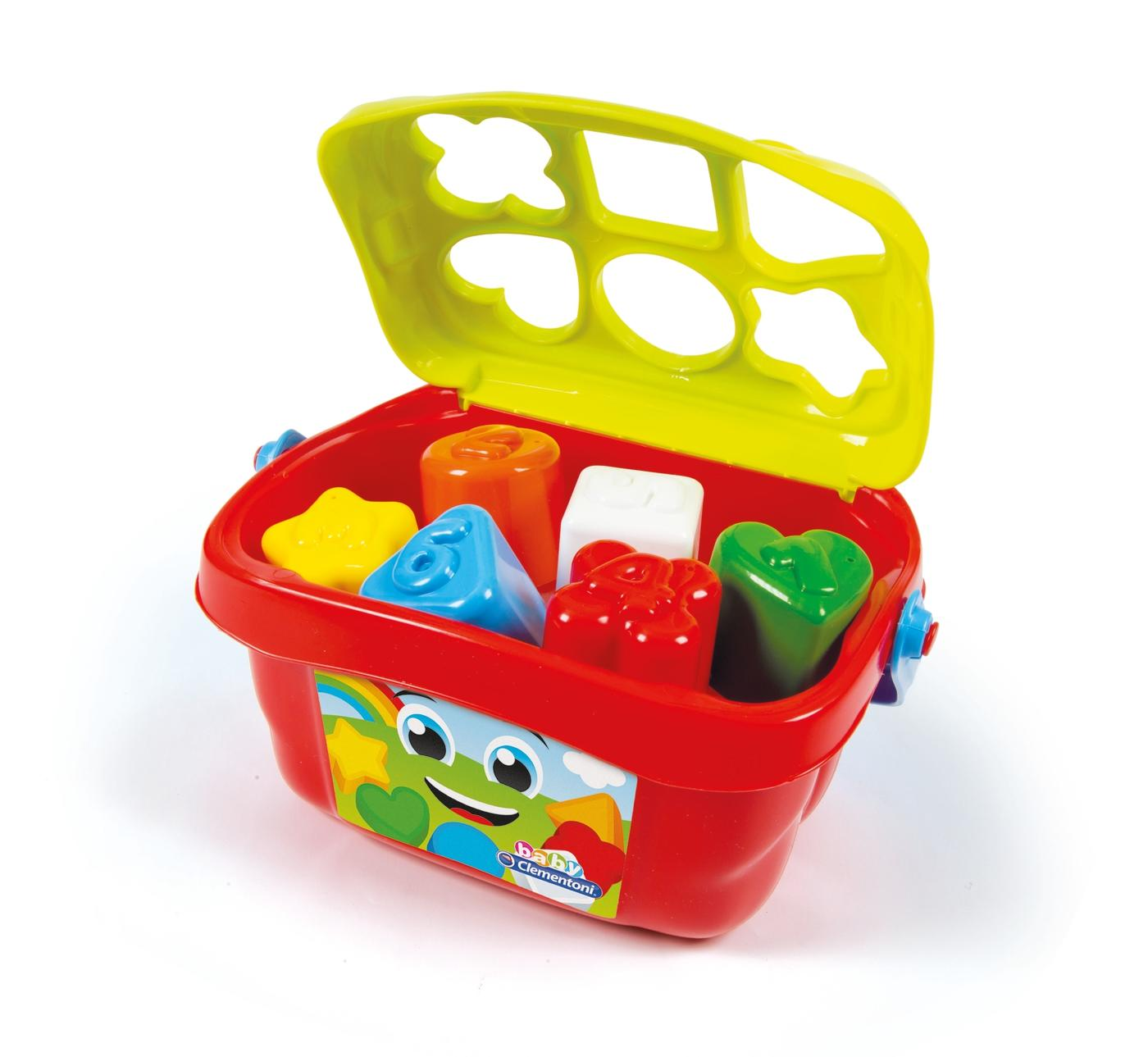 Baby Clementoni Shapes Sorter Bucket2