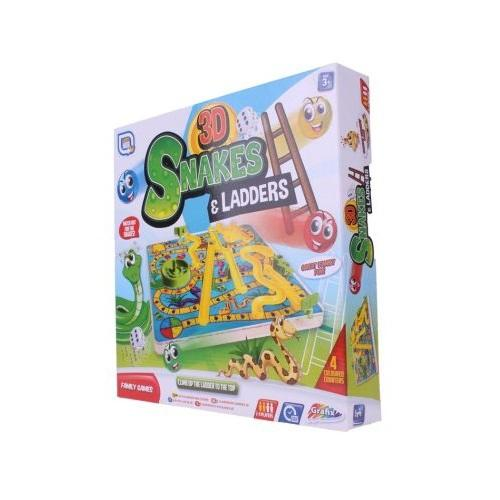 Grafix 3D Snakes & Ladders Game
