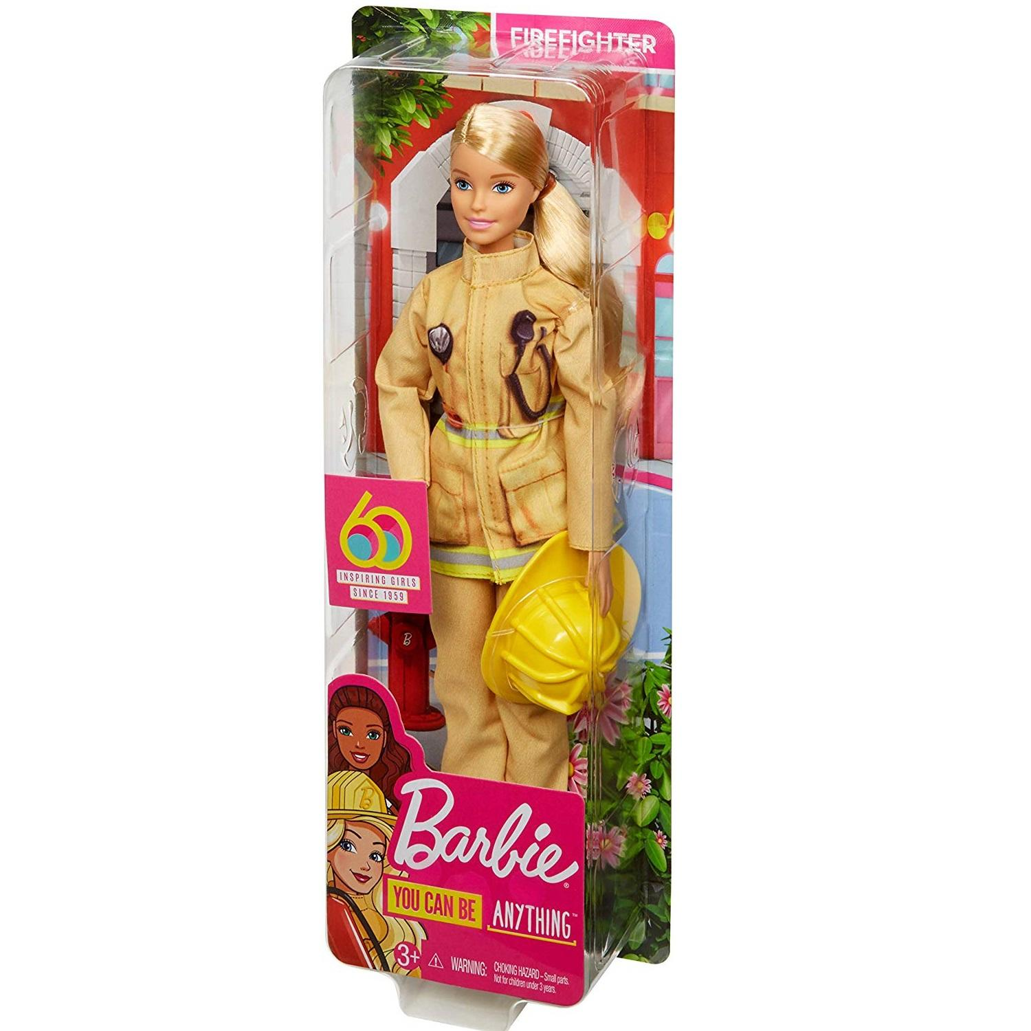 Barbie 60th Anniversary Firefighter Career Doll4