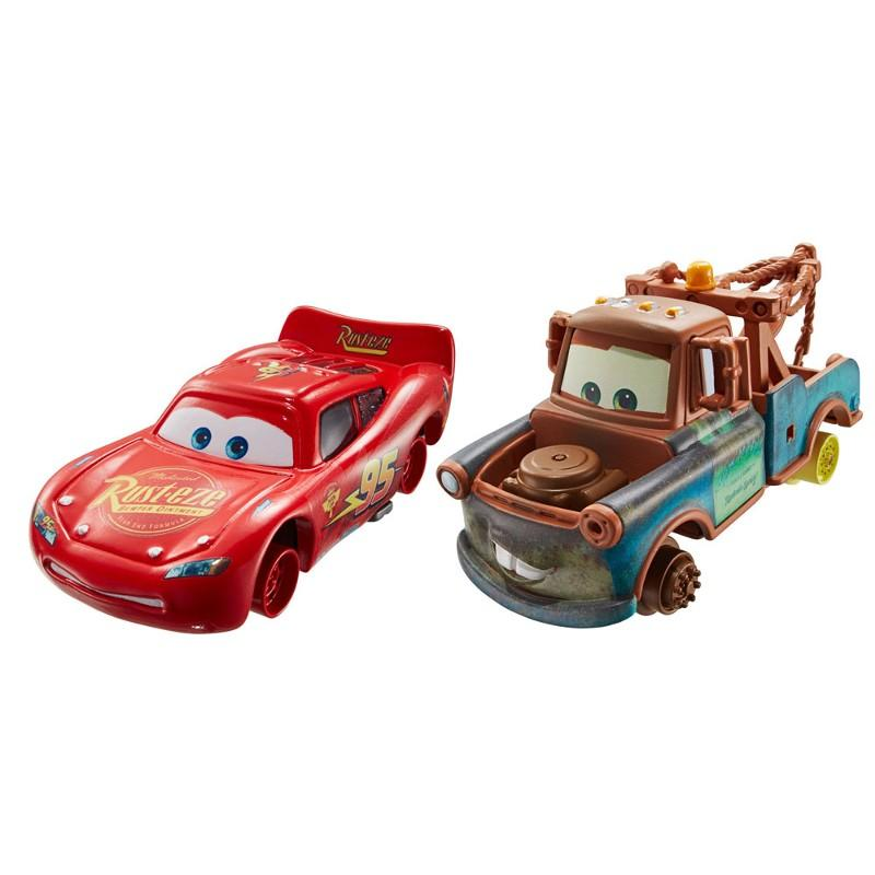 Cars Diecast Mater Lightning McQueen 2 Vehicle Pack1